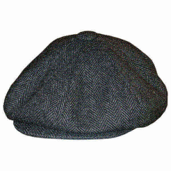 Irish Tweed Newspaper Boy Cap - Grey - Comfortably Irish 292cc26ac59