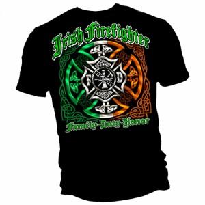 Irish American Firefighter Shirt - Back
